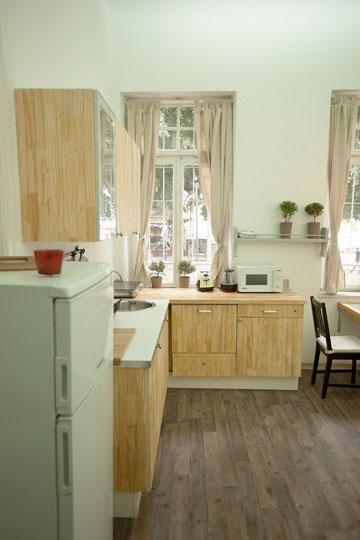 המטבח שופץ ואובזר ב-4,000 שקלים (צילום: גידעון לוין ואורן היימן)