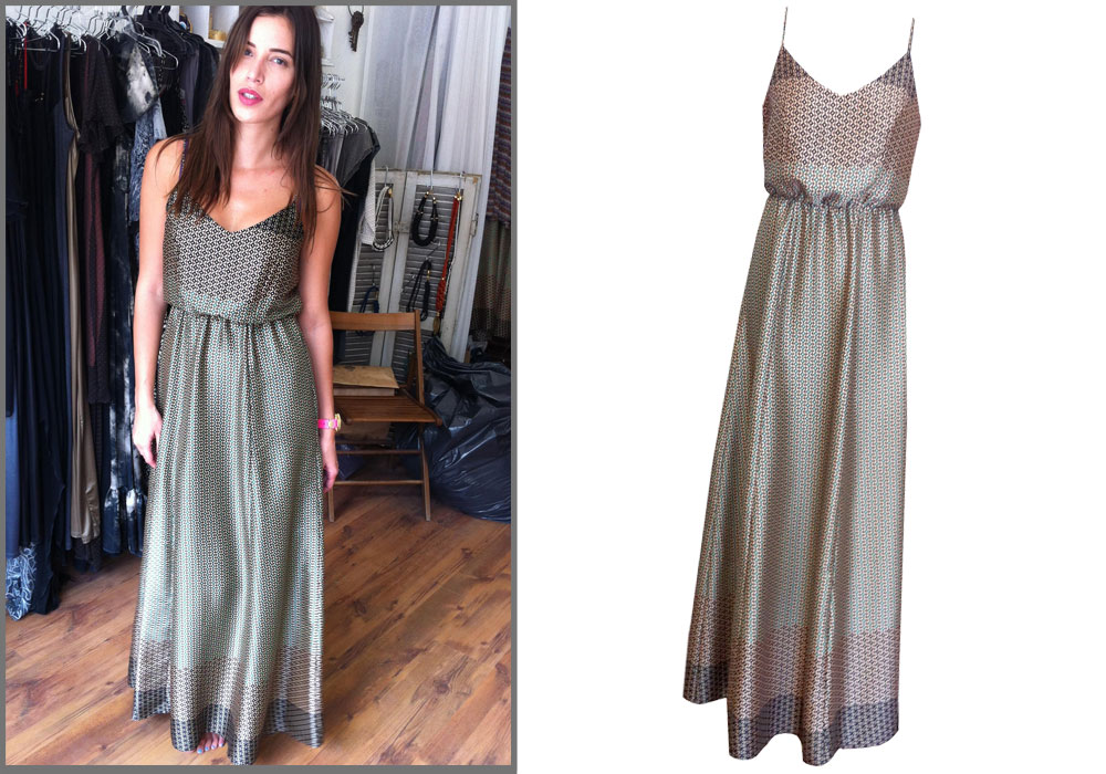 נטלי דדון בוהמיינית בשמלת מקסי של SISTER M (מחיר: 980 שקל) (צילום: רעיה מיטרני)