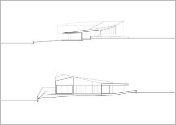 חתכים של הבית בחופית (באדיבות פריצקי ליאני אדריכלים)