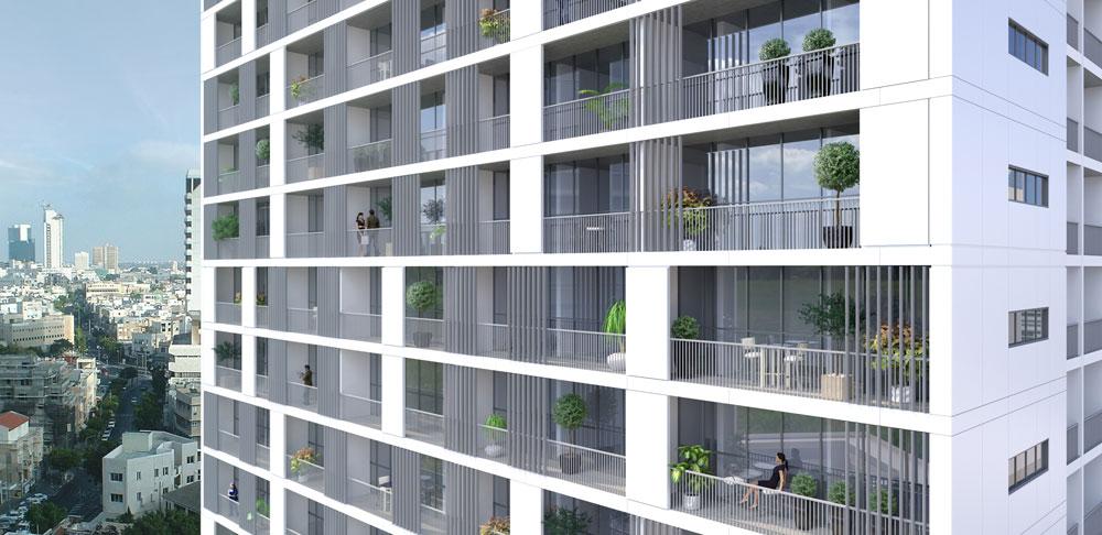כך ייראה המגדל המתוכנן באיכילוב. ההצעה שזכתה בתחרות הגיעה ממשרד האדריכלים החיפאי-תל אביבי מנספלד-קהת (הדמיה: מנספלד קהת אדריכלים)