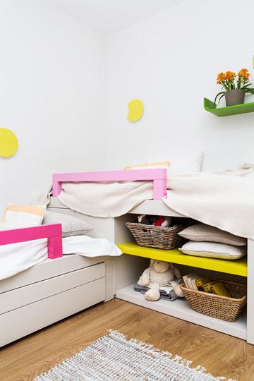 האם נכנסות בחדר שתי מיטות יחיד, או שאולי עדיף לקנות מיטת קומתיים? חדר הילדים בדירה שתוכניתה מופיעה למעלה (צילום: איתי בנית)