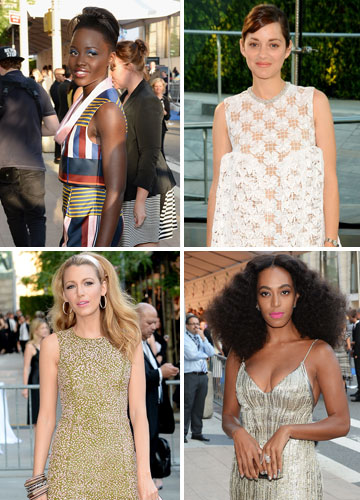 מהוליווד לטקס פרסי האופנה: לופיטה ניונגו, מריון קוטיאר, סולאנג' נואלס ובלייק לייבלי (צילום: gettyimages)
