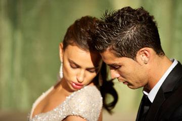 אם פורטוגל תגיע לגמר, המצלמה תתמקד בה. כריסטיאנו רונאלדו ואירינה שייק (צילום: gettyimages)