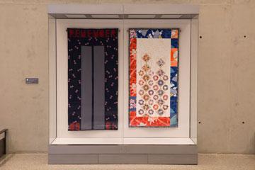 יצירת אמנות שמוצגת במוזיאון ומבוססת על מגדלי התאומים (צילום: Jin Lee)