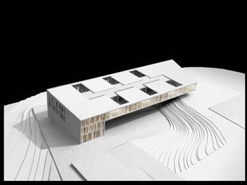 המודל שזכה בתחרות דומה לתוצאה הסופית (תכנון: חיוטין אדריכלים)
