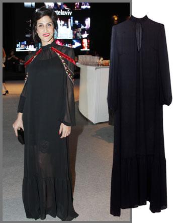מגי זרזר דרמה קווין בשמלה של Sister M (מחיר: 1,299 שקל) בתוספת תכשיט אתני (צילום: רפי דלויה)