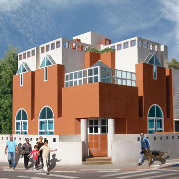 ביתו של הרשמן בצפון תל אביב (צילום: סלו הרשמן אדריכלים)