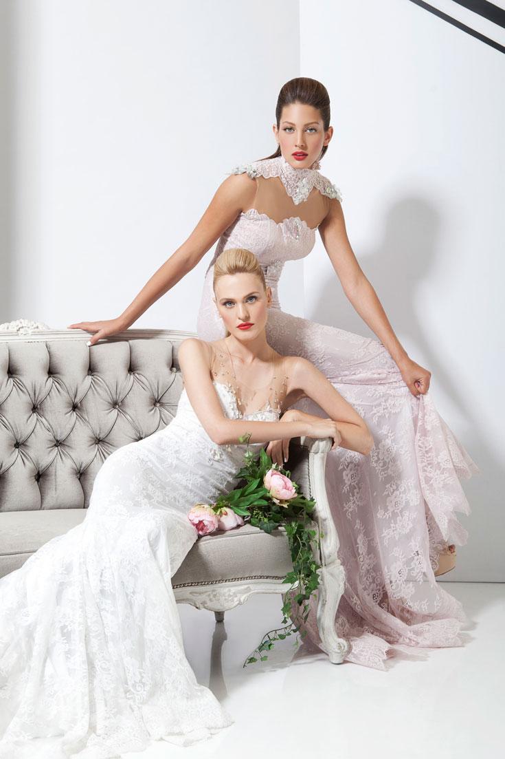 שמלות רקומות במראה עשיר (צילום: תום מרשק)