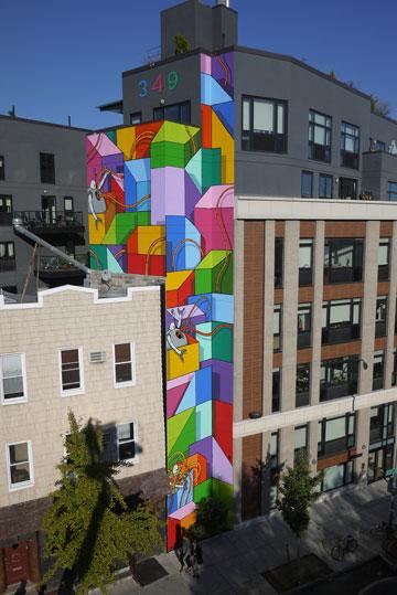 מצייר גם על בניינים