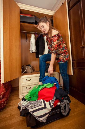 באופן כללי כמות החפצים שמקיפה נשים היא הרבה יותר גדולה (צילום: shutterstock)