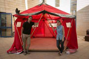 האוהל של הקבוצה הראשונה (צילום: דור נבו)