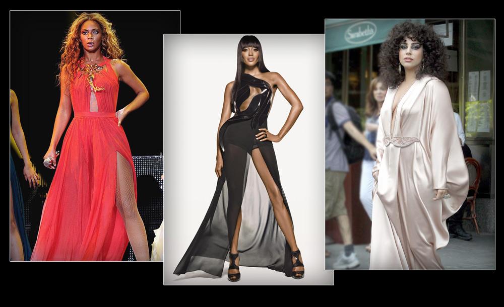 """ליידי גאגא, נעמי קמפבל וביונסה בשמלות של אלון ליבנה. המעצב הישראלי הפך לחביב על המפורסמות הגדולות בחו""""ל"""