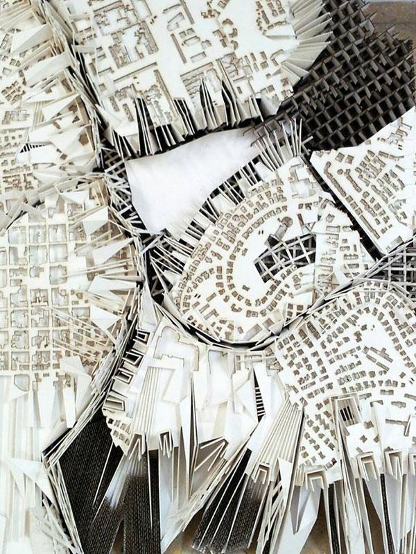 מודל מופשט (באדיבות בית הספר לארכיטקטורה באוניברסיטת אריאל )