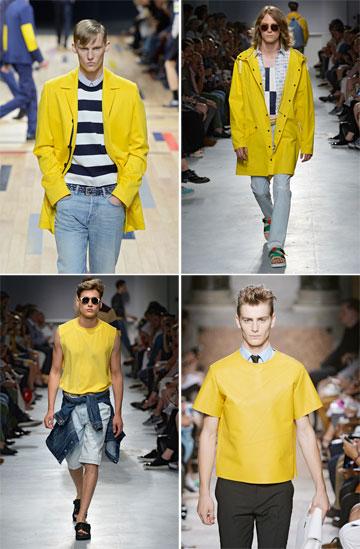 הצהוב סולל את דרכו אל התהילה. דיור הום, MSGM ו-Les Hommes (צילום: gettyimages)