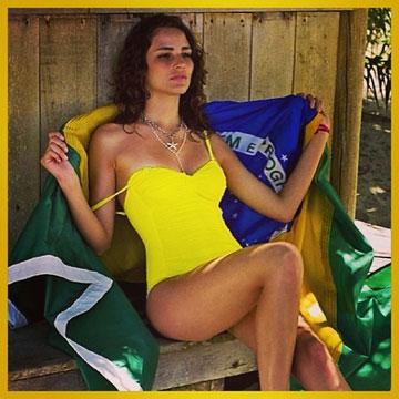 פרננדה טאבארס. מעודדת מהחוף (מתוך אינסטגרם)