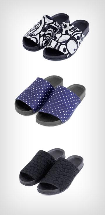 קאפל אוף x קום איל פו. שימוש באותם החומרים בנעליים ובקו ההלבשה (צילום: שני סקרלט קגן)