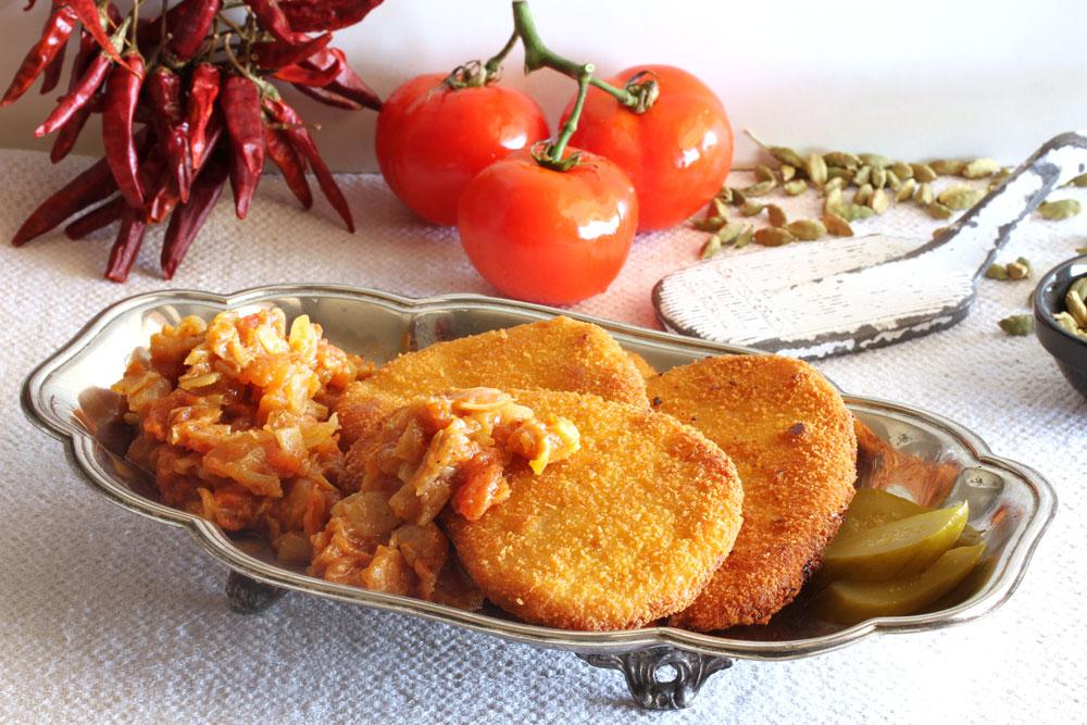 שניצלים ברוטב עגבניות חריף (צילום: אסנת לסטר )