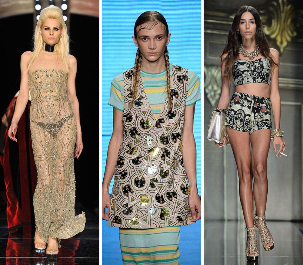 """מובילים את טרנד ה """"ג'נדר בנדר"""" בעולם האופנה: ליה טי, סתיו סטרשקו ואנדריאה פג'יק על המסלולים (צילום: gettyimages)"""