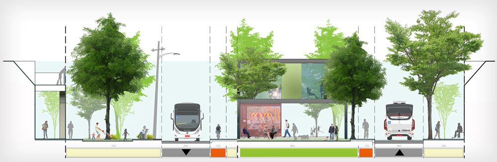 השאיפה היא שהמהלך יפריח את המרחב הציבורי ויחזיר את התושבים בהמוניהם לרחוב הראשי, בזכות בתי קפה וחנויות, למשל (תכנון:  אדריכל רוני פרידמן, אדריכל שהם שמחי)