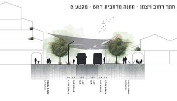 ההצעה שלא זכתה (תכנון: אדריכל גיא בלטר (סטודיו ארקו), אדריכלית נוף עינת שילר, אינג' מיכאל קוגן)