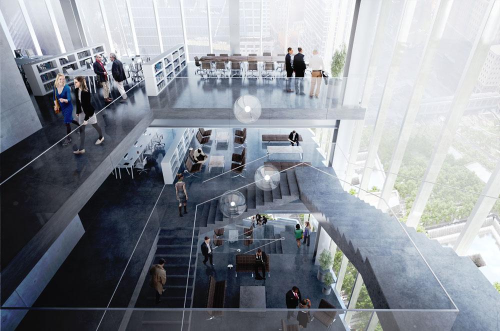 ג'יימס מרדוק, שתופס בימים אלה את מקומו של אביו רופרט כנשיא קבוצת התקשורת הענקית, החליף את האדריכל נורמן פוסטר בביארקה אנגלס (BIG) הדני. אחת הסיבות המדווחות לכך היא רצונו במתחמי עבודה משותפים