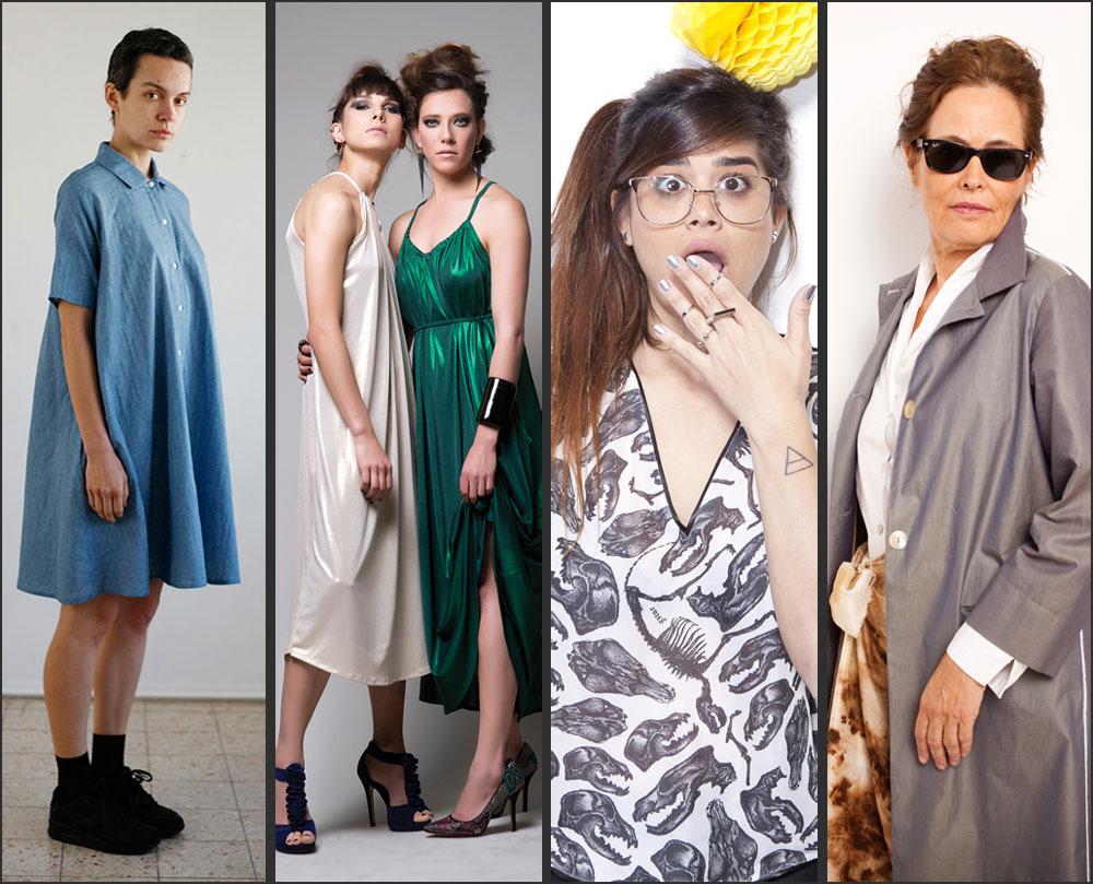 """מי צריך דוגמניות? """"נשים אמיתיות"""" בצילומי הקולקציות של אילנה אפרתי, Xray, מיזו ומאיה בש (צילום: תום מרשק, מירי דוידוביץ, רן גולני, דימה פרשסקי)"""