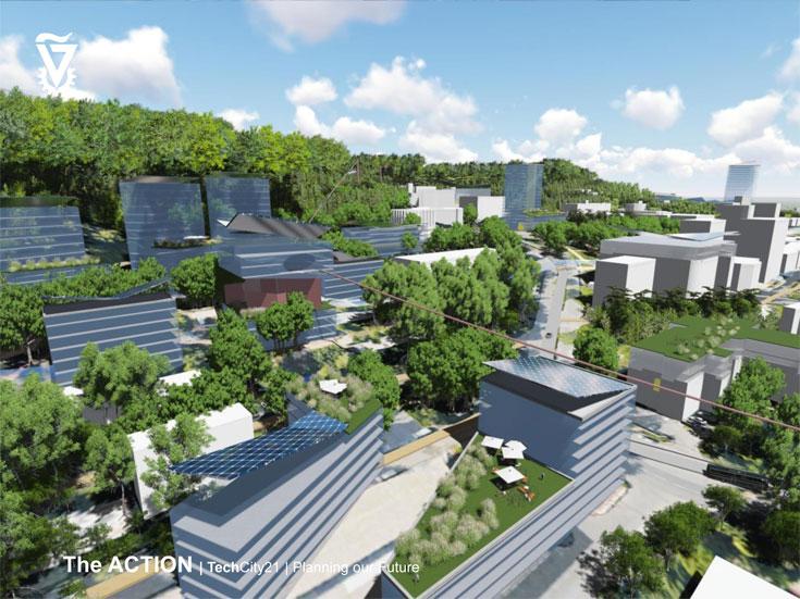 גדול יותר, תוסס יותר. הטכניון 2045 (באדיבות הפקולטה לארכיטקטורה ובינוי ערים ואגף בינוי ותחזוקה בטכניון)