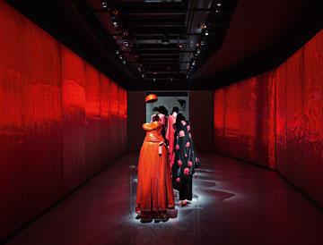דגמים של ארמאני במוזיאון החדש. פעם זה היה אסם, ומכאן שמו: סילו (צילום: Davide Lovatti)