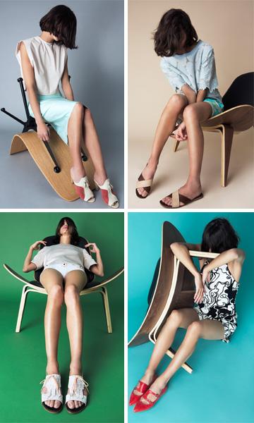 אימלדה פורטונה. נעליים עשירות בצבעים וטקסטורות (צילום: מיכאל טופיול)