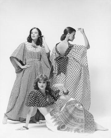 """שמלות כאפייה של רוז'י בן יוסף. """"אמרתי לעצמי שאני לא רוצה להיות כובשת"""", אמרה המעצבת בראיון מאוחר יותר  (צילום: בן לם)"""