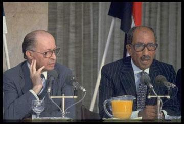 בגין וסאדאת ידעו היכן להיפגש. במסיבת העיתונאים ב-1979 (צילום: משה מילנר, לע''מ)
