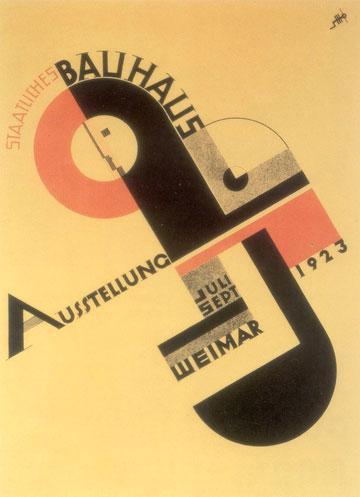 כרזה לתערוכת באוהאוס בעיצוב יוסט שמידט, 1923