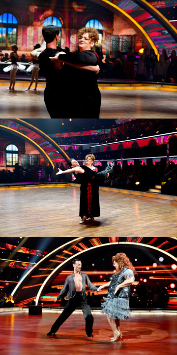 זקהיים ב''רוקדים עם כוכבים''. ''אני אישה גדולה - אבל גמישה'' (צילום: טל גבעוני)