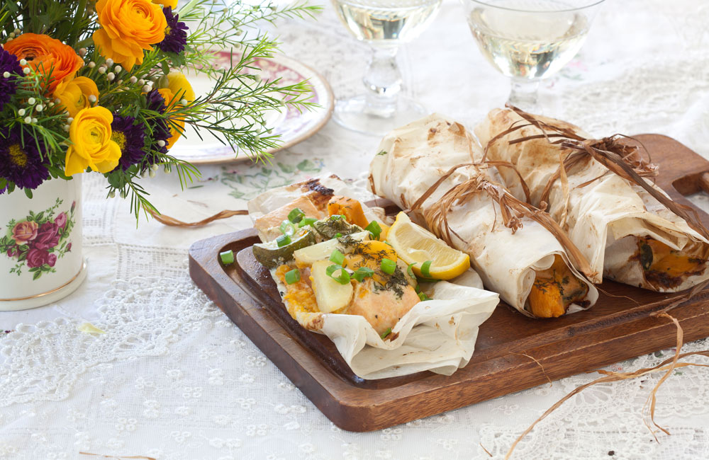 פילה סלמון בתנור עם ירקות (צילום: כפיר חרבי)
