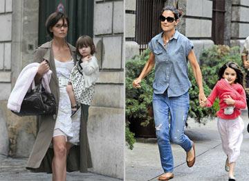 היום (מימין): שלוכית בג'ינס עם שיער בדיכאון. מיד אחרי החתונה (משמאל): שיקית עם בגדי מעצבים ותספורת מוקפדת (צילום: gettyimages)