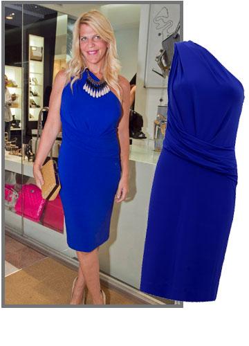 סנדרה רינגלר אלגנטית בשמלה א-סימטרית של המותג האיטלקי ג'וליה מילאנו (2,300 שקל) (צילום: סטודיו לם וליץ, שי נייבורג)