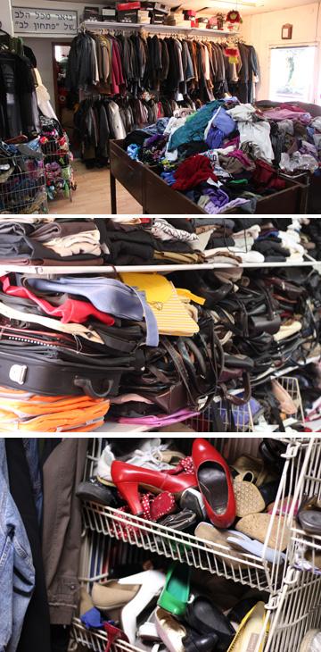 בזאר מכל הלב של עמותת פתחון לב. חנות יד שנייה במחירים סמליים (צילום: אלון שריד)