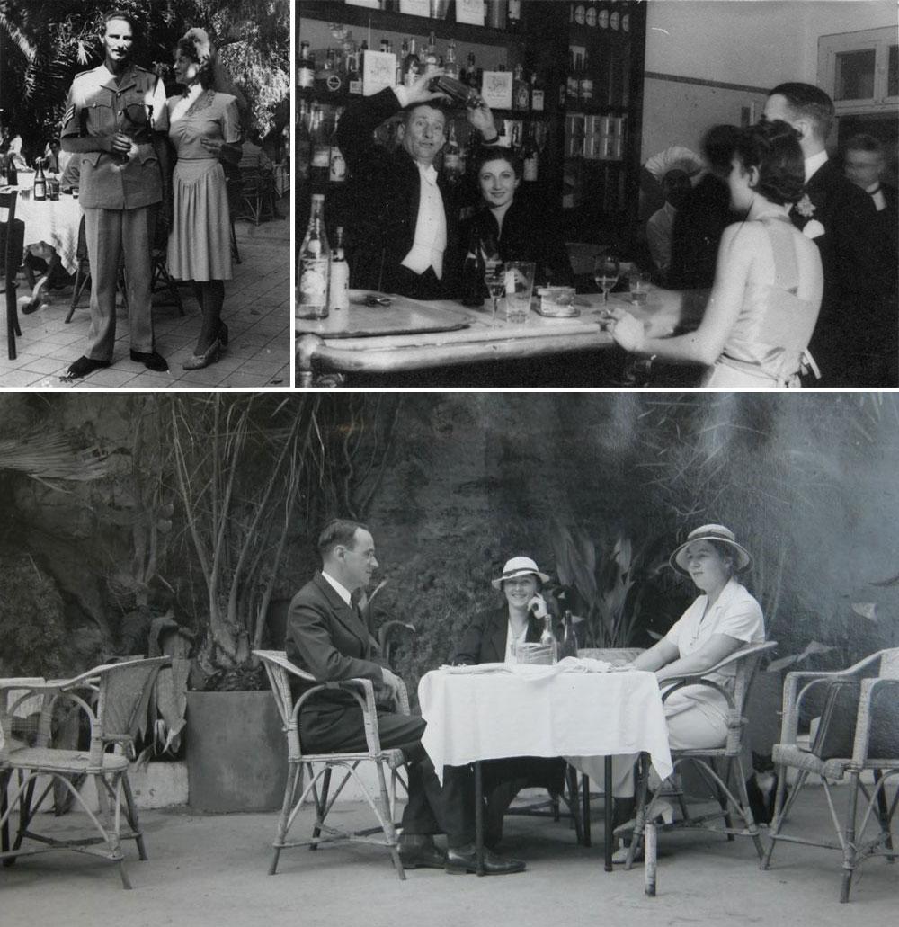 אם אתה לא שם אתה לא קיים. גם ש''י עגנון, בספרו ''תמול שלשום'', מזכיר את קפה לורנץ.  צילומים מסוף שנות ה-30 של המאה שעברה (באדיבות מכון שכטר)