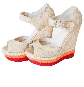 נעליים עם עקבי רוקי מקש, סבסטיאן מילאן. ''אני 1.78 מ', ועדיין אני מאמינה שעקבים גבוהים מרזים אותך'' (צילום: ענבל מרמרי)