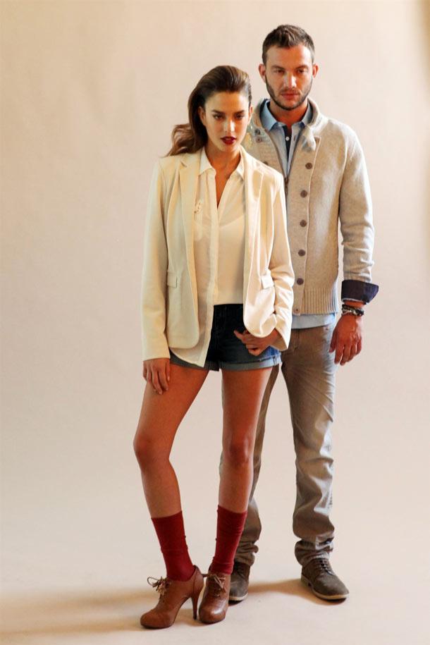 חמודים שכמותם. זהבי וגרוסמן מצלמים קמפיין חורף (צילום: עומר מוסלי)