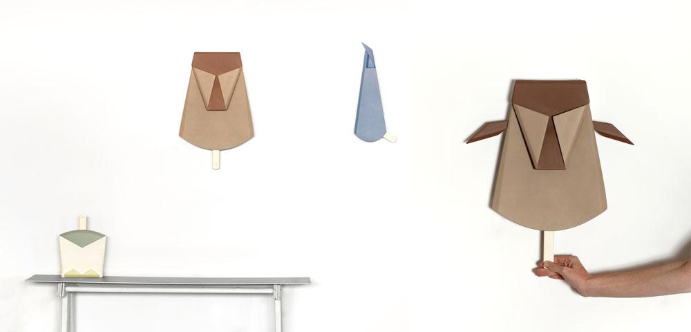 ביקובסקי לא ידעה שהיא תגיע לעיצוב מנורה בסופו של תהליך. היא החלה בבדיקת ספרי פופ-אפ (ספרים נפתחים לילדים), והדרך נפתחה (צילום: רונן טופלברג)
