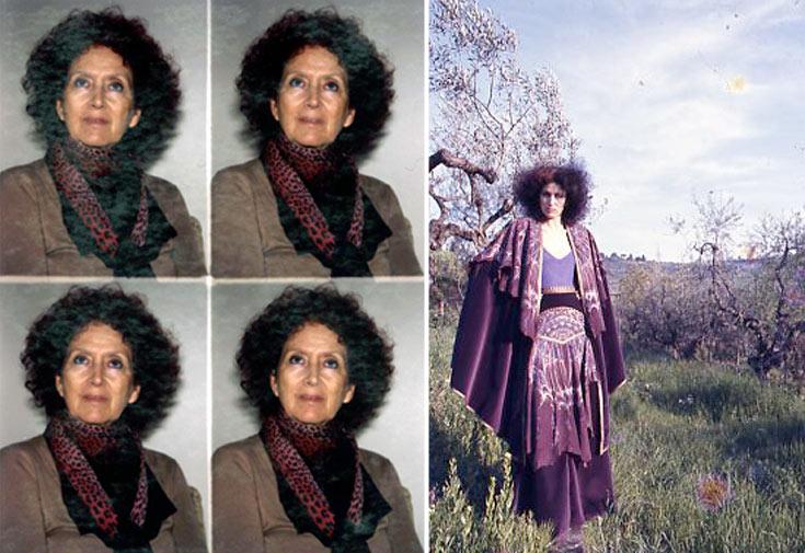 תמרה יובל ג'ונס בשנות ה-70 (מימין) והיום. ''באירופה עוד מתלבשים, בארץ זה שיא השלוך'' (צילום: טים ג'ונס, דור מלכה)