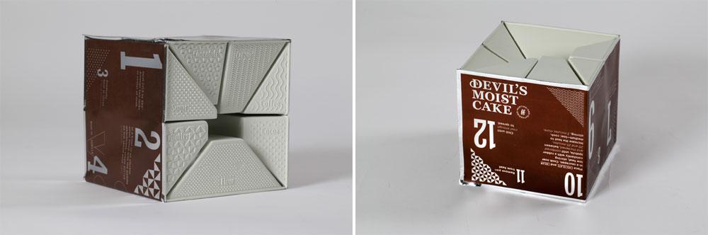 אחד הפרויקטים המעניינים בתערוכה: דורין אזולאי עיצבה אריזת מזון שמכילה את כל מרכיבי המתכון, בטכנולוגיית ואקום פשוטה ומתמחזרת (צילום: תמי דהן)