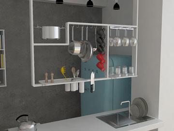 גזור והדבק: מטבח הולם לדירה שכורה (צילום: תמי דהן)