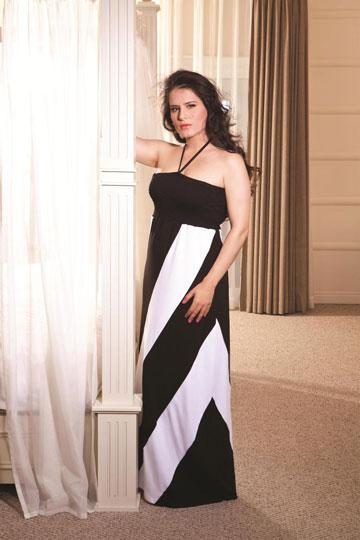 מירי מסיקה בבגדים של ml. משמשת כפרזנטורית של המותג (צילום: שי יחזקאל)