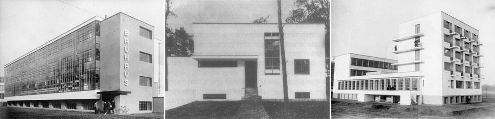 גלגוליו של בית הספר ''באוהאוס'', שהספיק לנדוד בין שלוש ערים בתוך 14 שנים. הנאצים סגרו אותו ואנשיו התפזרו לכל עבר (צילום: gettyimages)