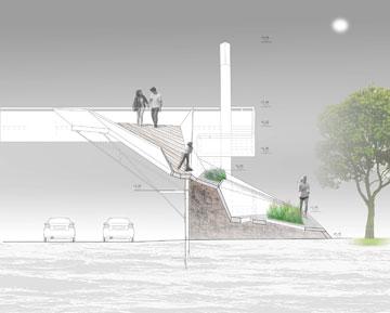 הפרויקט של טל חריט. גשר שמאחד, ולא רק במובן הפיזי (באדיבות החוג לעיצוב פנים המכללה למינהל)