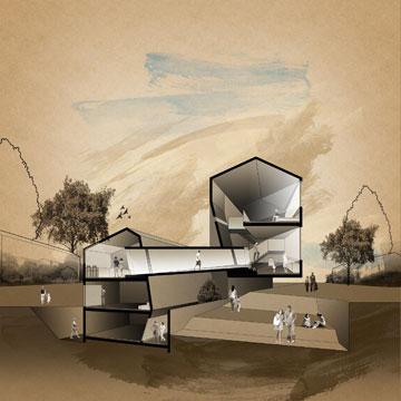 הפרויקט של ליטל מור יוסף. תוספות בנייה שיוצרות מרחבים משותפים (באדיבות החוג לעיצוב פנים המכללה למינהל)