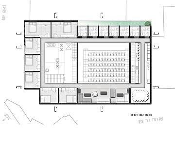 כך הופך בית קולנוע למגורי סטודנטים. הפרויקט של מאיה כהן לוי מ-HIT (באדיבות החוג לעיצוב פנים המכון הטכנולוגי HIT חולון)