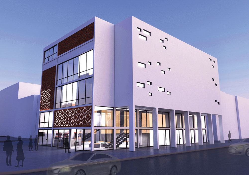 קולנוע ''מרכז'' בדרום תל אביב, בהצעה שמשמישה אותו למגורי צעירים. מאיה כהן לוי מציעה חדרים חדרים, מסביב למעין סלון משותף - אולם הקולנוע לשעבר (באדיבות החוג לעיצוב פנים המכון הטכנולוגי HIT חולון)